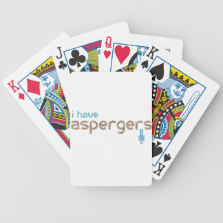 I have aspergers man bicycle playing cards