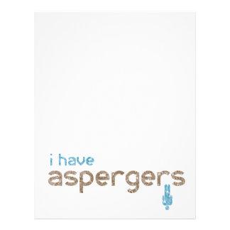 I have aspergers man letterhead
