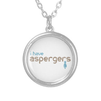 I have aspergers man silver plated necklace