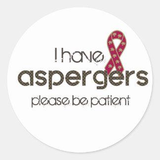 I have Aspergers Round Sticker