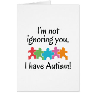 I Have Autism Card