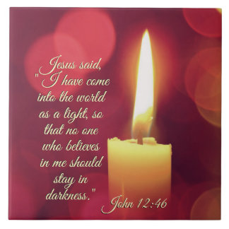 I Have Come into the World as a Light, John 12:46 Tile