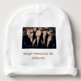 I have elephant memory - cap baby beanie