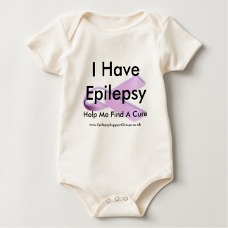 I Have Epilepsy Help Me Find A Cure Baby Bodysuit