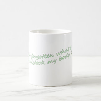 I have forgotten what I really am Coffee Mug