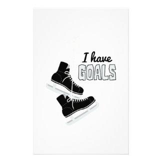 I Have Goals Custom Stationery