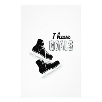 I Have Goals Stationery