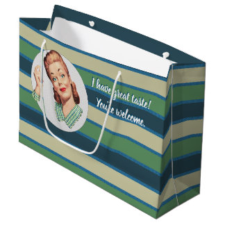 I have great taste. You're welcome. Large Gift Bag