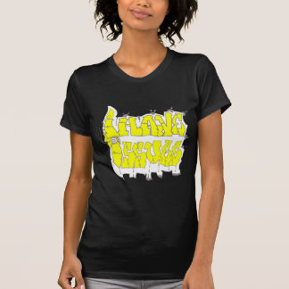 I Have Issues (Graffiti Style) Yellow and Silver Tshirt