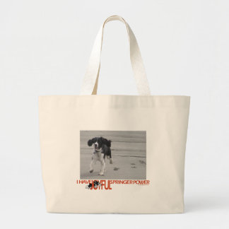 I Have Joyful Springer Power Customize With Photo Large Tote Bag