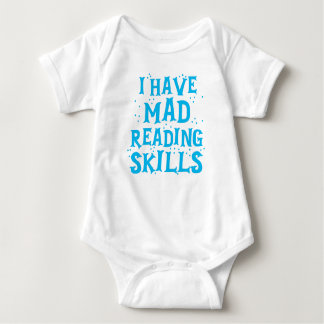 i have mad reading skills baby bodysuit