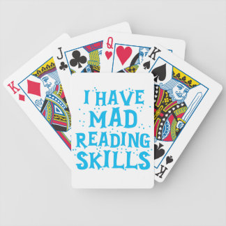 i have mad reading skills bicycle playing cards