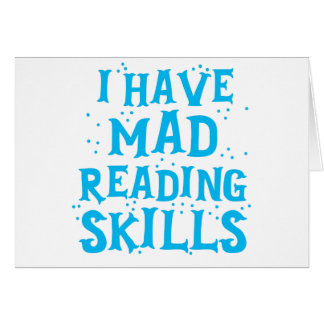 i have mad reading skills card