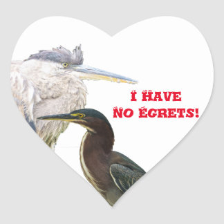 I Have No Egrets! Heart Sticker