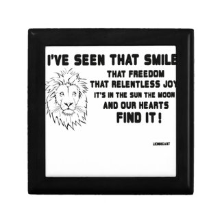 I have seen that smile great quote gift box