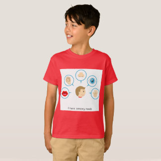 I Have Sensory Needs - Kid's T-Shirt (Maroon)