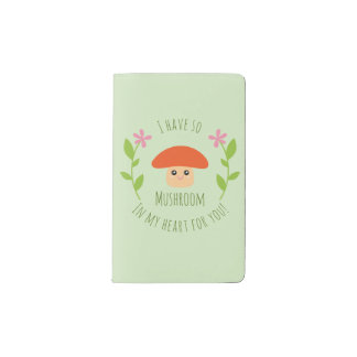 I Have So Mushroom In My Heart For You Pun Humor Pocket Moleskine Notebook