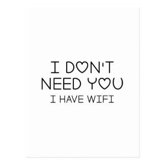 I Have Wifi Postcard