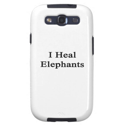 I Heal Elephants Samsung Galaxy S3 Cases