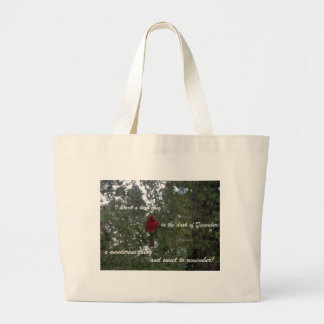 I heard a bird sing... large tote bag