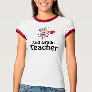 I Heart 2nd Grade Teacher T-shirt