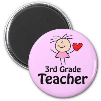 I Heart 3rd Grade Teacher Magnet