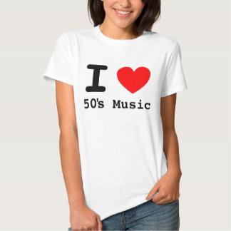 I Heart 50's Music Shirt