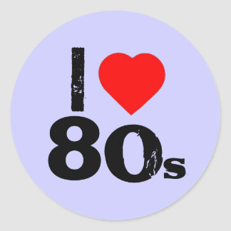 """I Heart 80's"" Stickers"