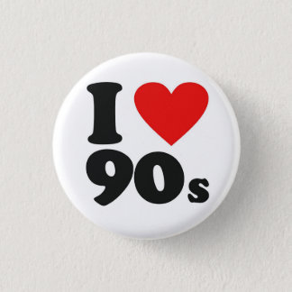 I Heart 90's 1 Inch Round Button