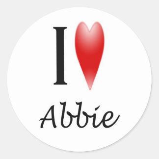 I Heart Abbie Classic Round Sticker