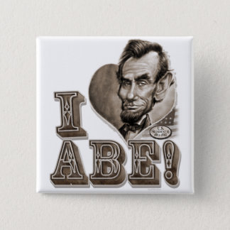 I Heart Abe Lincoln 2 Inch Square Button