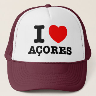 I heart Acores Trucker Hat