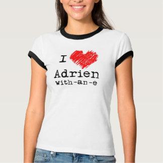 I heart Adrien-with-an-e t-shirt