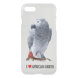 I Heart African Greys iPhone 8/7 Case