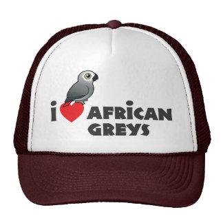 I Heart African Greys Trucker Hat