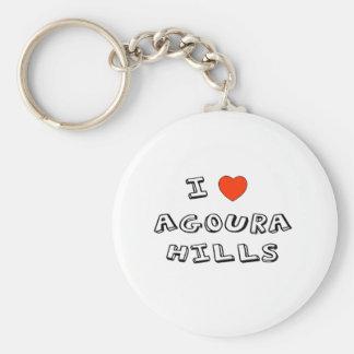 I Heart Agoura Hills Basic Round Button Keychain