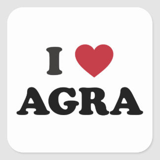 I Heart Agra India Square Sticker