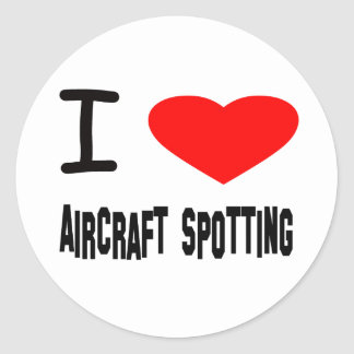 I Heart Aircraft Spotting Stickers