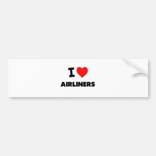I Heart Airliners Bumper Stickers