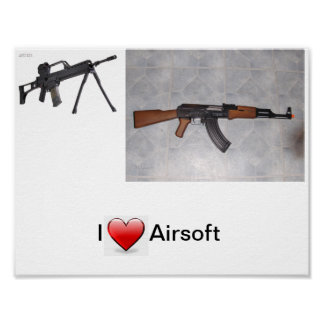 I Heart Airsoft Posters