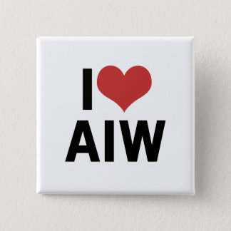 I Heart AIW 2 Inch Square Button