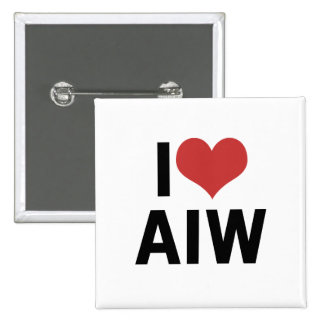 I Heart AIW 2 Inch Square Button