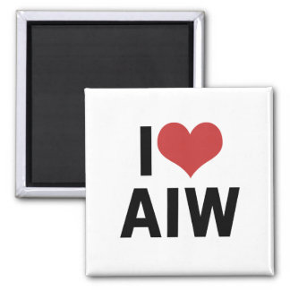 I Heart AIW Magnet-Square Magnet