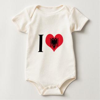 I Heart Albania - I Love Albania - Albanian Flag Baby Bodysuit