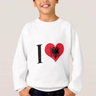 I Heart Albania - I Love Albania - Albanian Flag Sweatshirt