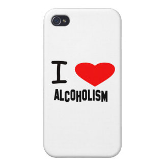 I Heart ALCOHOLISM iPhone 4/4S Cover
