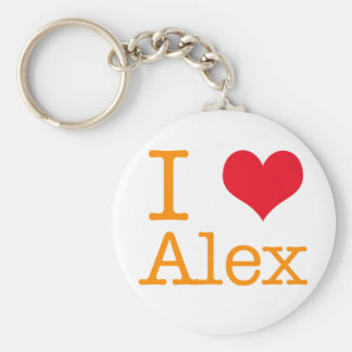 I Heart Alex Keychain
