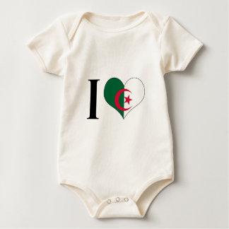 I Heart Algeria - I Love Algeria - Algerian Flag Baby Bodysuit
