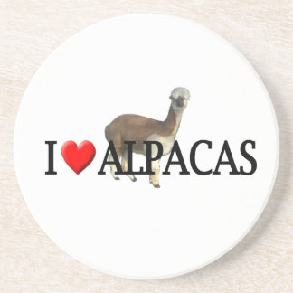 I heart alpacas coaster