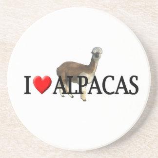 I heart alpacas drink coaster